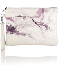 meli melo - Oversized Clutch Bag | Marble Print - Lyst