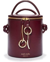 meli melo - Op Hue Severine | Bucket Bag | Cardinal Burgundy - Lyst