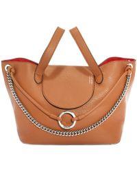 meli melo - Tan Leather Linked Thela Medium Tote Bag - Lyst