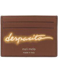 "meli melo - Leather Card Holder | ""despacito"" | Almond Neon - Lyst"