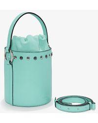 meli melo - Santina Mini | Bucket Bag | Turquoise Studs - Lyst