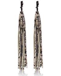 meli melo - Leather Tassel Charm White Leopard - Lyst