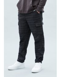Mennace - Blue Check Utility Trousers - Lyst