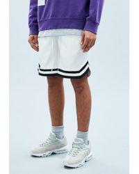 Mennace - White Sateen Basketball Shorts - Lyst