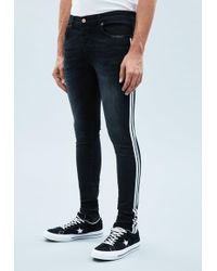 Mennace - Blue Superskinny Side Stripe Cordoza Jeans - Lyst