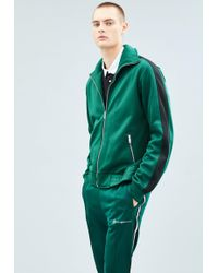 Mennace - Green Tricot Knit Track Top - Lyst