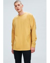 Mennace - Yellow Dropped Shoulder Sweatshirt - Lyst