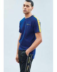Mennace - Blue Tape Arm Detail T-shirt - Lyst