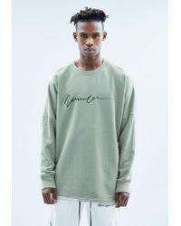 Mennace - Mint Drop Shoulder Crew Black Sweatshirt - Lyst