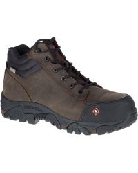 Merrell - Moab Rover Mid Waterproof Comp Toe Work Boot Wide Width - Lyst