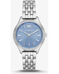 a89817cef49c Lyst - Michael Kors Mk3284 Lexington Watch in Metallic