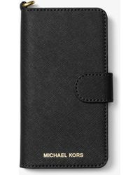 Michael Kors - Saffiano Leather Folio Phone Case For Iphone 7 - Lyst