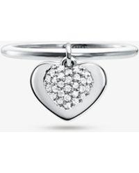 Michael Kors - Anello con cuore in argento sterling con placcatura in metallo prezioso e pavé - Lyst