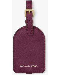 Michael Kors - Jet Set Travel Saffiano Leather Luggage Tag - Lyst