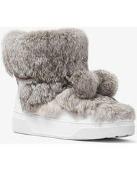 Michael Kors - Nala Fur And Calf Hair High-top Trainer - Lyst