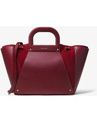 Michael Kors - Clara Extra-large Leather And Suede Tote - Lyst