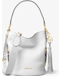 Michael Kors - Brooke Medium Pebbled Leather Bucket Bag - Lyst
