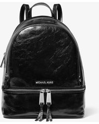 58d5834550124d Michael Kors - Rhea Medium Crinkled Calf Leather Backpack - Lyst