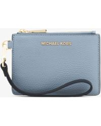 Michael Kors - Mercer Color-block Pebbled Leather Coin Purse - Lyst