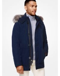 Michael Kors - Faux-fur Trimmed Tech Parka - Lyst