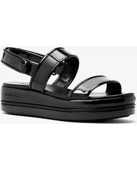 Michael Kors - Peggy Patent Leather Platform Sandal - Lyst