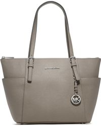 Michael Kors - Jet Set Top-zip Saffiano Leather Tote - Lyst