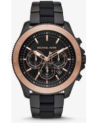 Michael Kors - Reloj Theroux en tono negro de silicona - Lyst