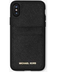 Michael Kors - Saffiano Leather Case For Iphone X - Lyst