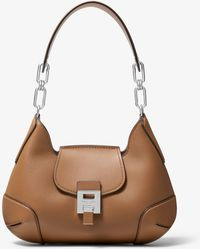 627e9c6a1e29b Michael Kors - Bancroft Medium Calf Leather Shoulder Bag - Lyst