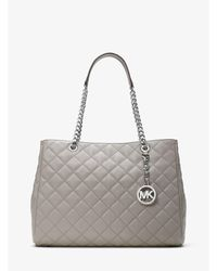 Michael Kors - Susannah Large Quilted-leather Tote - Lyst