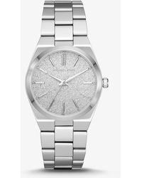 dfcf7684b1e5 Lyst - Michael Kors Channing Blue-dial Silver-tone Watch in Metallic