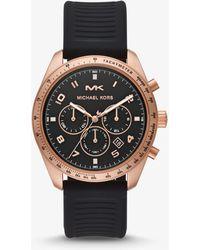 Michael Kors - Reloj Keaton en tono dorado rosa de silicona - Lyst