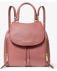 Michael Kors - Viv Large Pebbled Leather Backpack - Lyst
