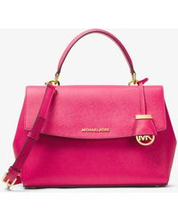 Michael Kors - Ava Medium Saffiano Leather Satchel - Lyst