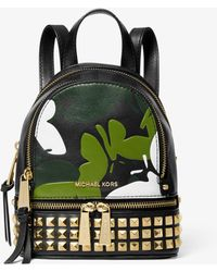 MICHAEL Michael Kors Rhea Mini Butterfly Camo Leather Backpack