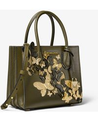 Michael Kors - Umhängetasche Mercer Medium aus Leder mit Schmetterlingsverzierungen und Akkordeon-Design - Lyst