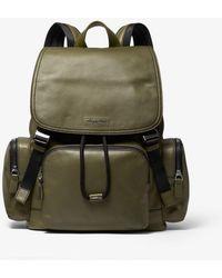 247812c31647 Michael Kors Henry Leather And Logo Backpack in Black for Men - Lyst