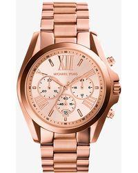 Michael Kors - Oversized Bradshaw Rose Gold-tone Watch - Lyst