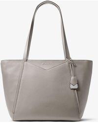 e6f5c98e3671 MICHAEL Michael Kors - Whitney Large Leather Tote Bag - Lyst