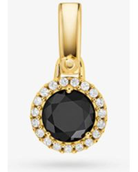 Michael Kors - 14k Gold-plated Sterling Silver Stone Charm - Lyst
