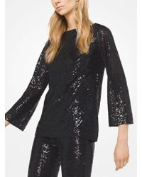 Michael Kors - Sequined Stretch-tulle Tunic - Lyst