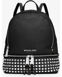 abbce8ec0e75 Michael Michael Kors Rhea Studded Backpack in Red - Lyst