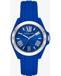 Michael Kors - Bradshaw Silver-tone And Silicone Watch - Lyst