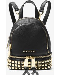 Michael Kors - Rhea Mini Studded Leather Backpack - Lyst