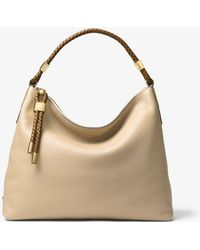 52a8898380e discount code for michael kors skorpios large pebbled leather shoulder bag  lyst 269f3 a4567
