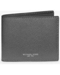 Michael Kors - Harrison Slim Leather Billfold Wallet - Lyst