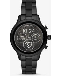 fc4eeda9c51b Michael Kors - Reloj Inteligente Runway Heart Rate En Tono Negro De Silicona  - Lyst