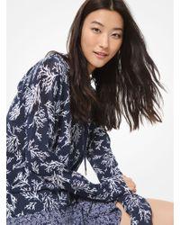 Michael Kors - Painterly Reef-print Cotton And Nylon Hoodie - Lyst