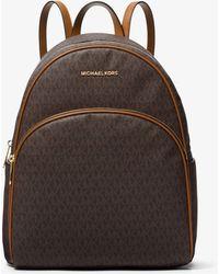 Michael Kors - Abbey Large Logo Backpack - Lyst