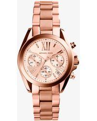 Michael Kors - Bradshaw Rose Gold-tone Stainless Steel Watch - Lyst